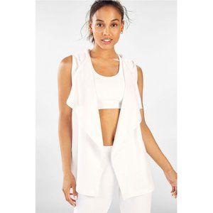 NWT | Fabletics Hooded Hannah Vest White Fleece XL